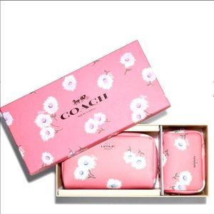 Coach Boxed Small & Mini Cosmetic Case Daisy
